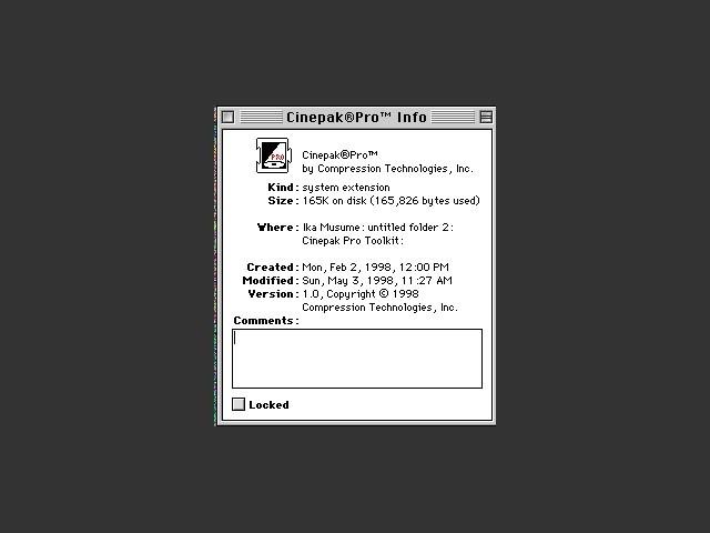 Cinepak Toolkit 1.0 + Cinepak Pro 1.0 (1998)