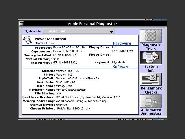 Apple Personal Diagnostics (1994)