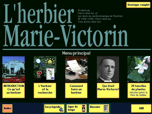 L'herbier Marie-Victorin / The Home Botanist (1992)