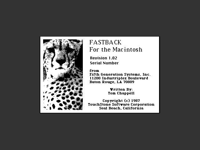 Fastback 1.02 (1987)