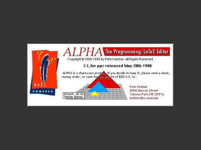 Alpha 7.x (LaTeX editor) (1998)