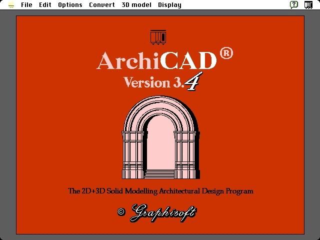 ArchiCAD 3.4 (1990)