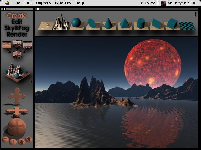 KPT Bryce Create Palette