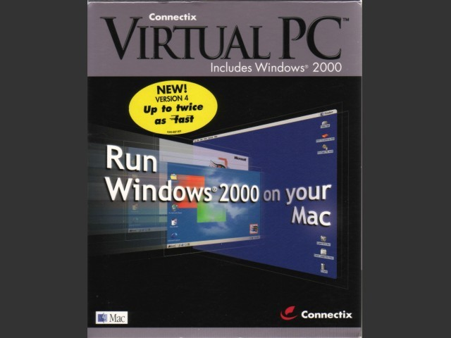 Virtual PC 4.0 box cover with Windows 2000