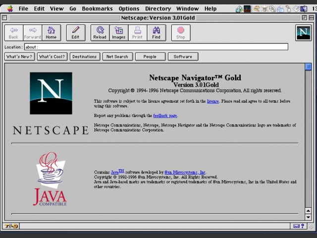 Netscape 3.0.1 gold edition