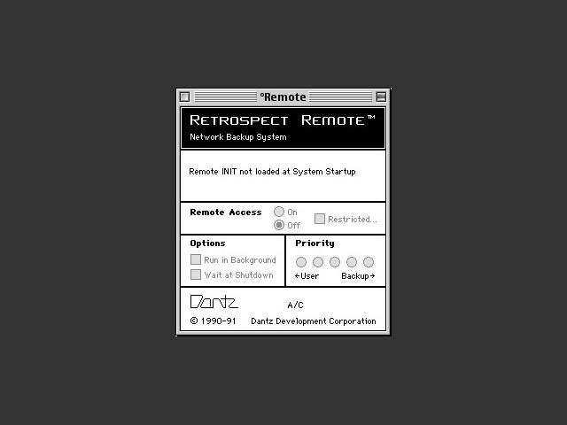 Retrospect Remote settings utility