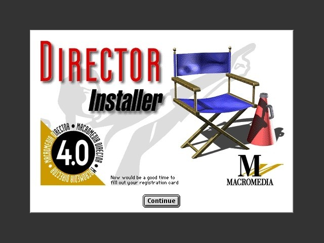 Macromedia Director 4.0.4 (CD + Floppies) (1994)