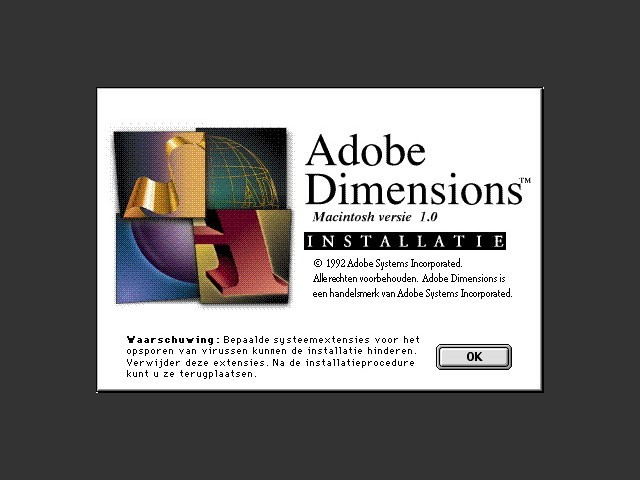 Adobe Dimensions 1 0 (NE) - Macintosh Repository