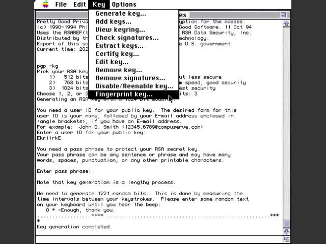 MacPGP (1995)