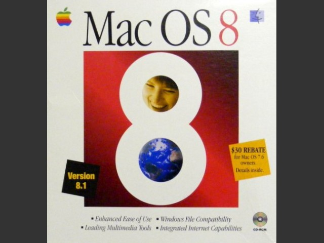 Mac OS 8.0, 8.0 for PM G3, 8.1, 8.1 for PM G3 D&M, G3 AIO, Server G3, PB G3, iMac Rev.A (1997)