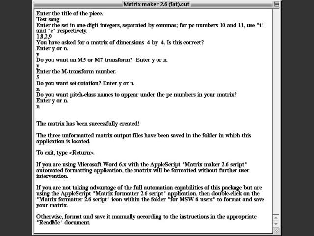 Matrix Maker 2.6 (1996)