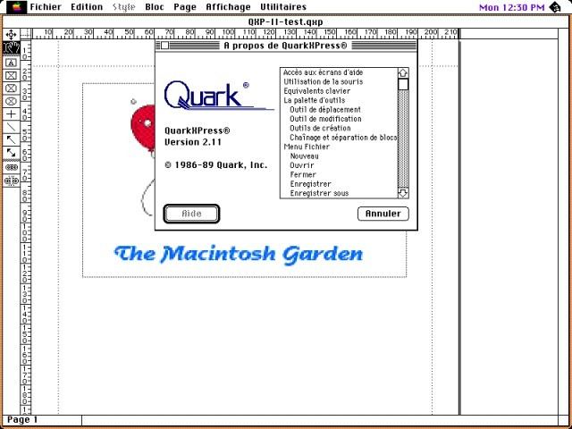 QuarkXPress 2.11 (1989)