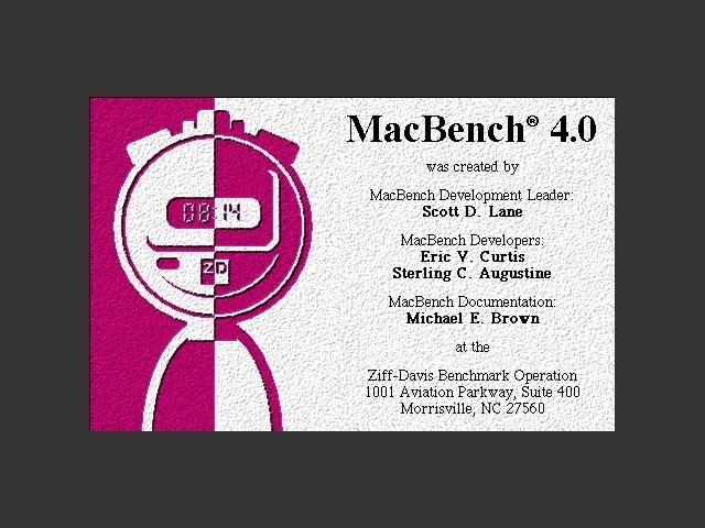 MacBench 4.0 (1997)