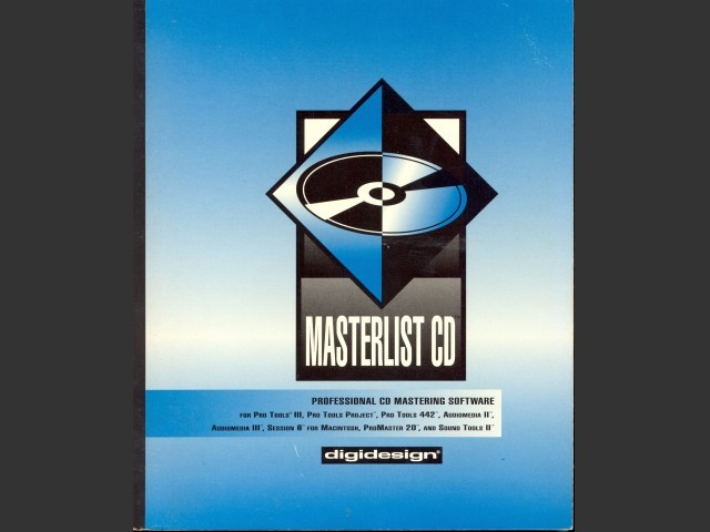 MasterList CD versions 1.3 and 1.4 (1995)