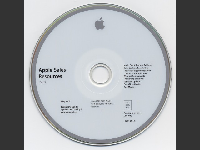 Apple Sales Resources DVD (May 2003) (2003)