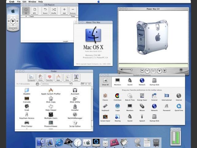 Mac OS X Public Beta build 1H39 (US)
