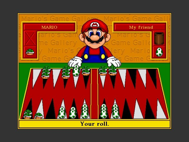 Mario's Game Gallery: Backgammon