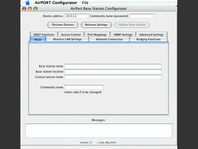 AirPORT Java Configurator (2001)