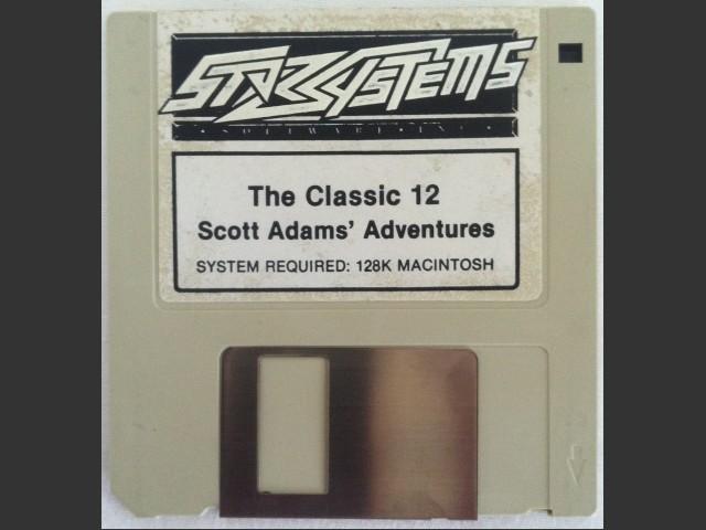 Classic 12 Scott Adams' Adventures disk - front side