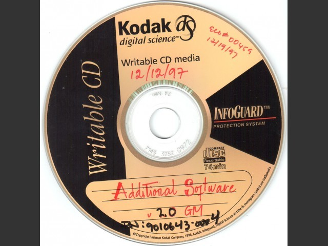 Additional Software v2.0 for Umax-SuperMac computers (internal Golden Master disc) (1997)