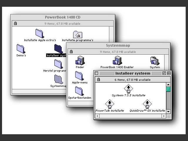Mac OS 7.5.3 for PowerBook 1400 (1996)