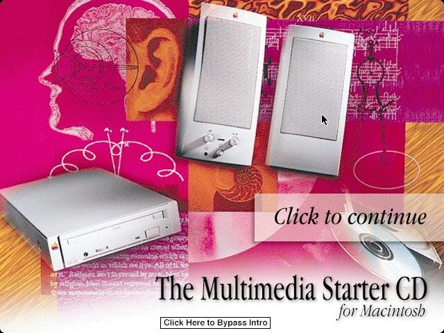 Multimedia Starter CD title screen