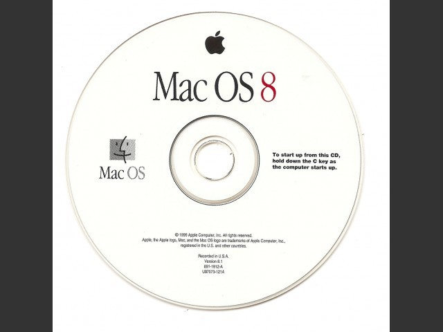 Mac OS Install CD Library : MacOS 7, MacOS 8, MacOS 9