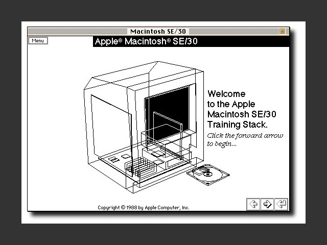 Apple Macintosh SE/30 Training Stack (1988)
