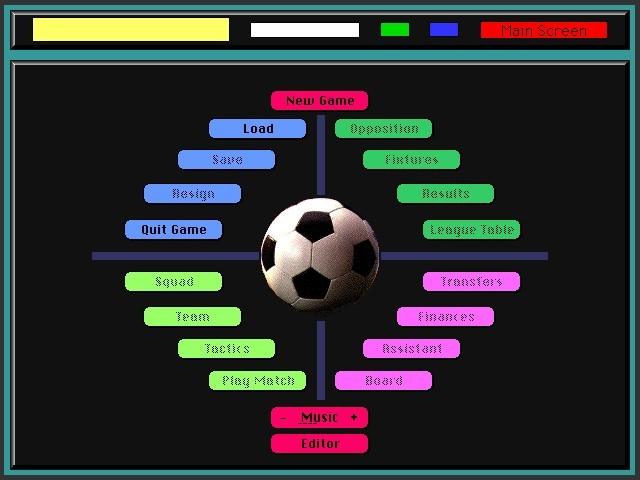 Mac Football Manager screen