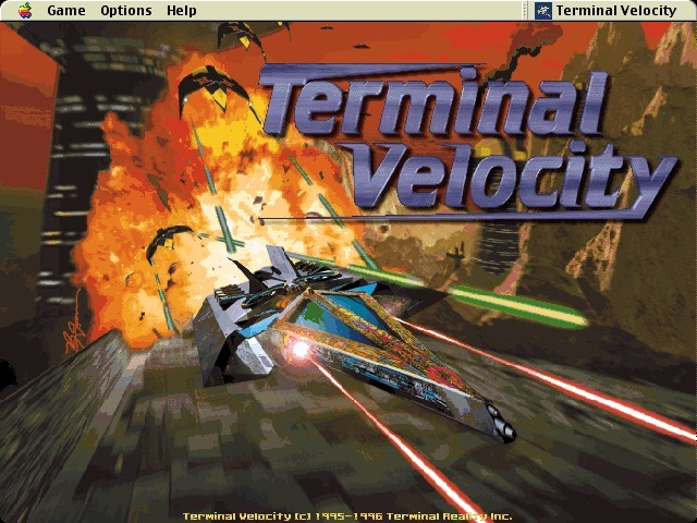 Terminal Velocity Main Menu Screen