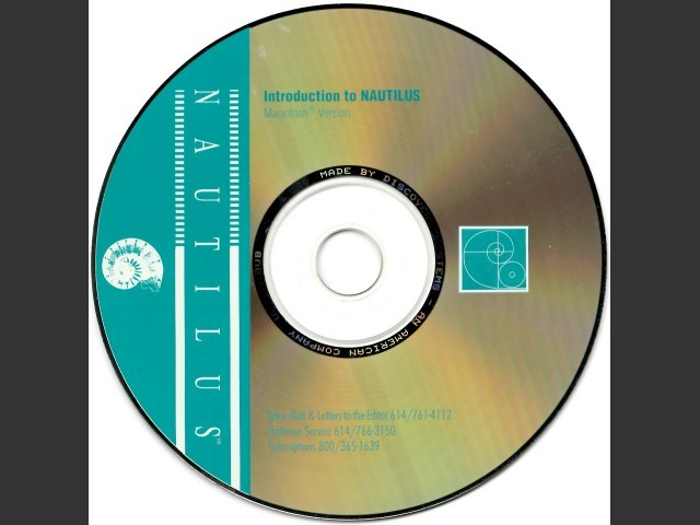 Introduction To NAUTILUS v.2 (1995)