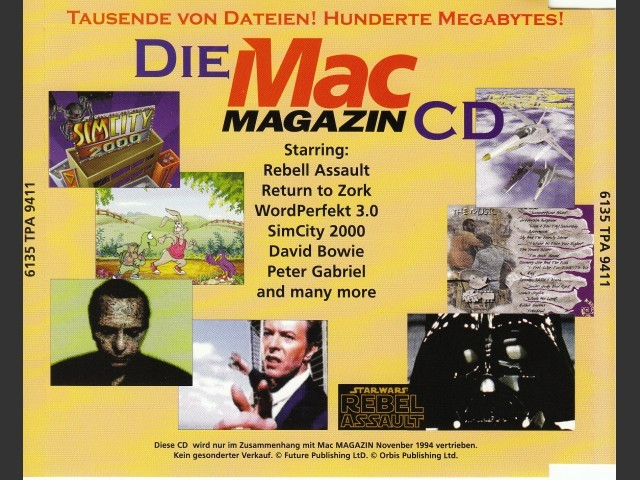 Mac Magazin CD 1 (November 1994, German) (1994)