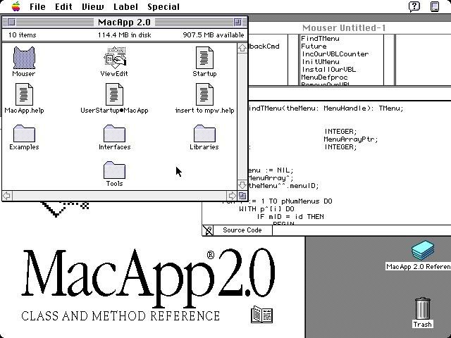 MacApp 2.0 (1990)