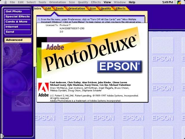 Adobe PhotoDeluxe 2.0 (1997)