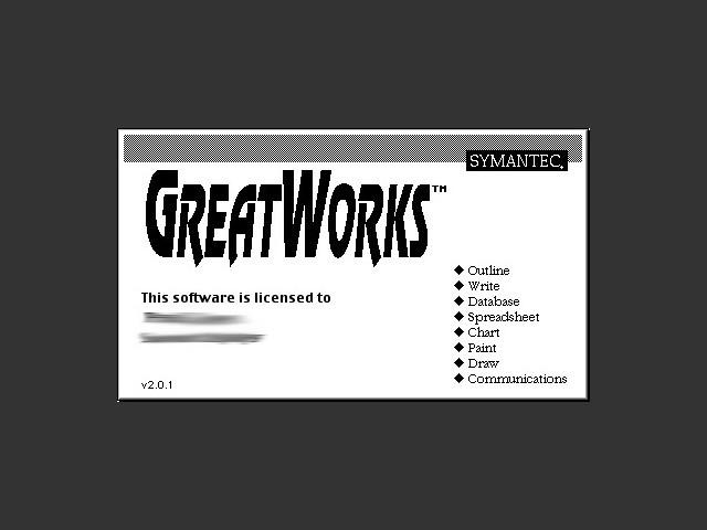 Symantec GreatWorks 2.x (1992)