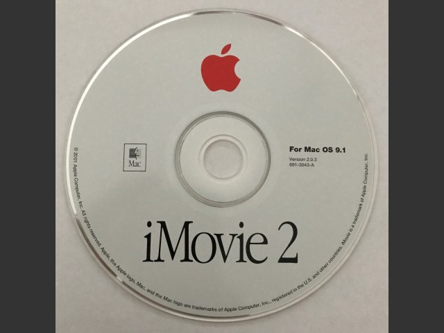 691-3043-A,,iMovie v2.0.3. For Mac OS v9.1 (CD) (2001)