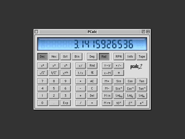 PCalc 2.2.2 (2000)