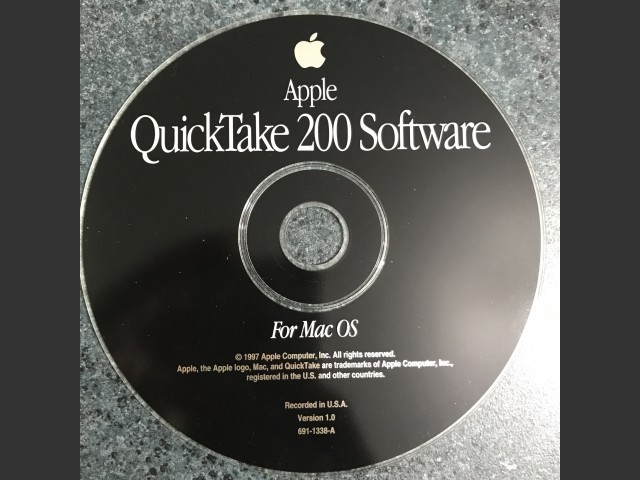 691-1338-A,,Apple QuickTake 200 Software for Mac OS. v1.0 1997 (CD) (1997)