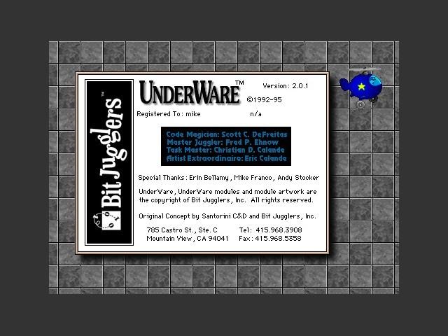 About UnderWare 2.0 .1 splash