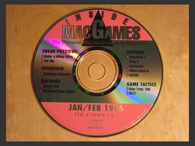 Inside Mac Games CD January/February 1996 (1996)