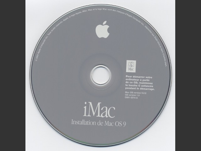 Mac OS 9.2.2 Install Disk (French) (2001)