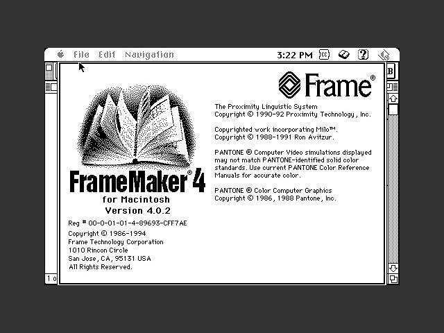 FrameMaker 4.0.2 (1993)