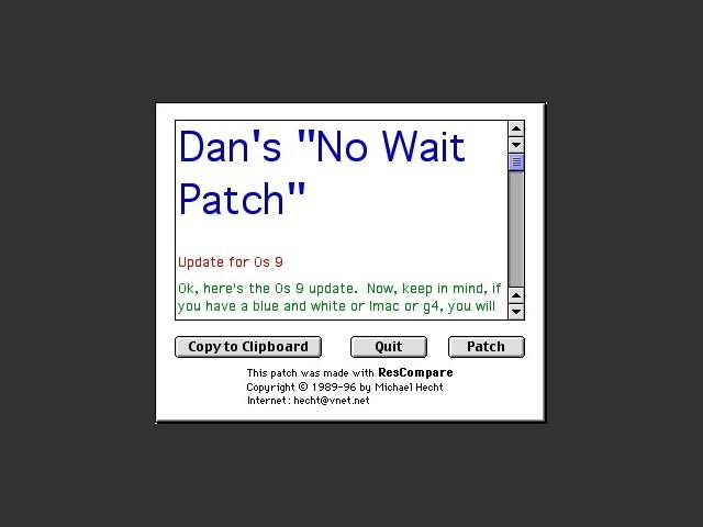 OS9 No Wait Patch (2000)