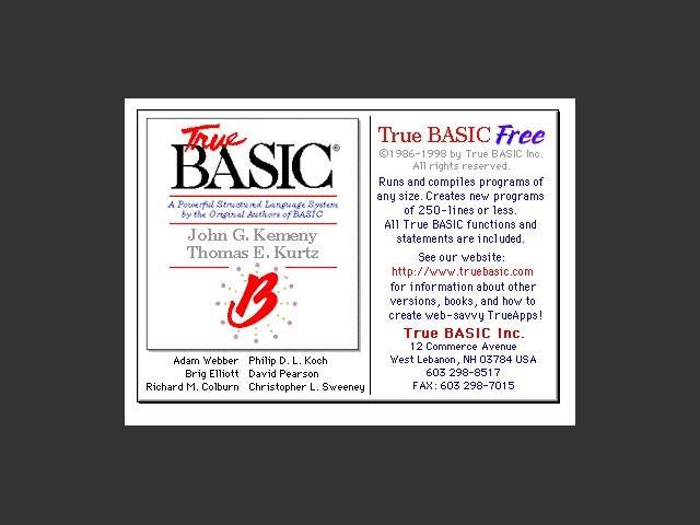 True BASIC Free 2.72 (1998)