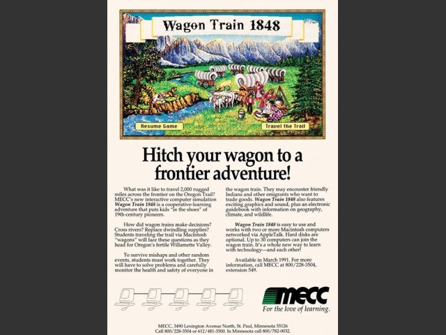 Game flyer ad