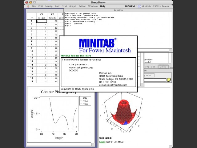 Minitab 10.51 Xtra (1995)