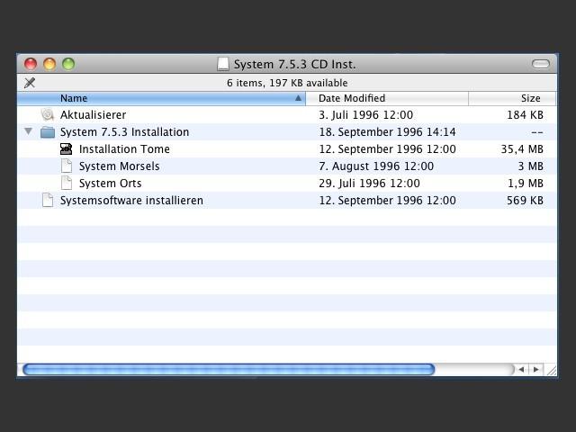 Apple Mac OS 7.5 (incomplete) (CD)