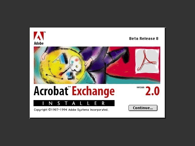 Adobe Acrobat Exchange 2.0b8 (1994)