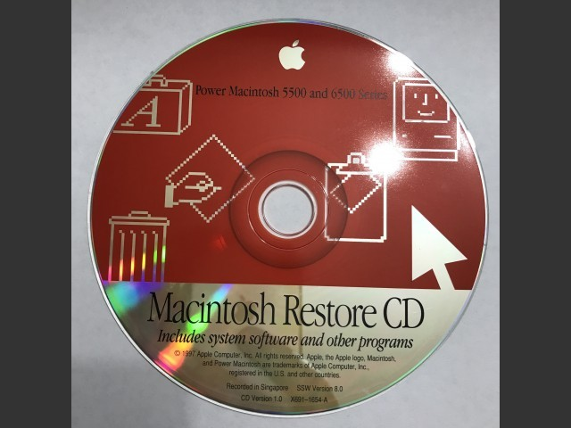 Mac OS 7.5.5 to 8.0 (Power Macintosh 5500 and 6500 Series) (1996)