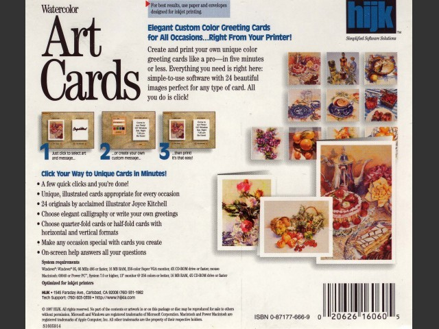 Watercolor Art Cards (1997)